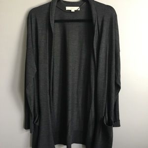 Grey light weight LOFT cardigan